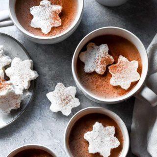 top view of keto hot chocolate recipe