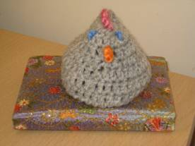 George the egg cosy