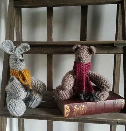 Knitted Bunny Rabbit Knitted Bear