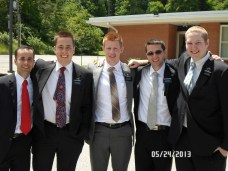 Me, Elder Sanders and Elder Royer (our Zone Leaders) Elder Raffensparger, and Elder Benedict, our third missionary for the past two weeks