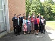Back: Elder Green, Elder Labrum, Elder Moore, Elder Campbell, Elder Kelly, Elder Carter Front: Elder Wright, Sister Boldrin, Sister Gray, Sister Call, Sister Richards, Elder Williams
