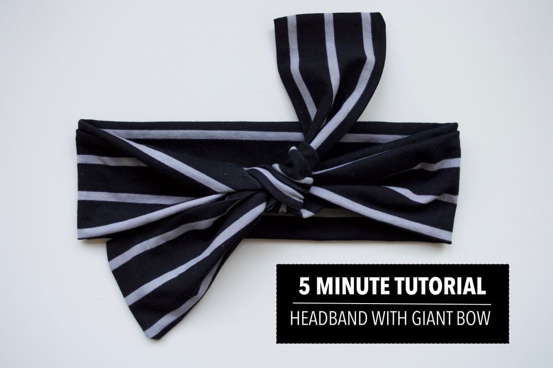 Sewing tutorial: 5 minute knotted knit headband