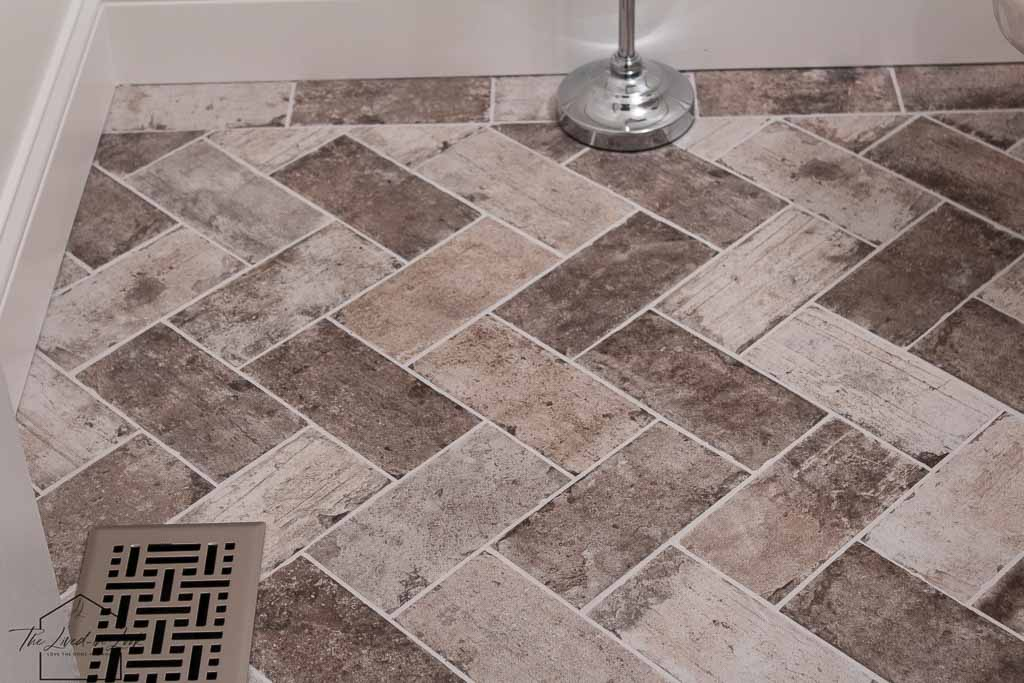 diy faux brick floor look for less