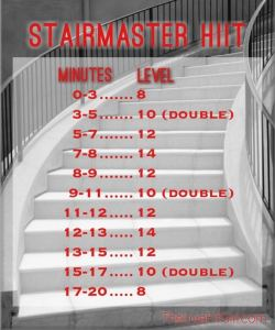 StairMaster HIIT