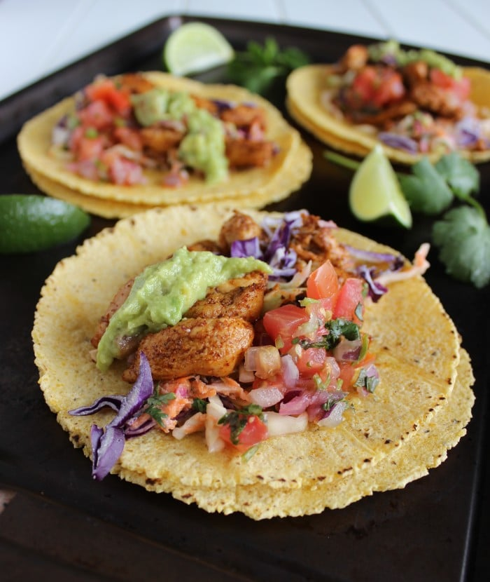 Skinny Chicken Tacos