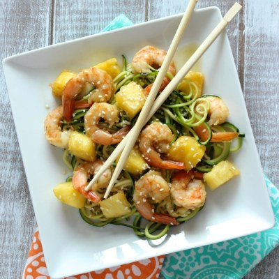 Skinny Shrimp & Pineapple Teriyaki Noodles