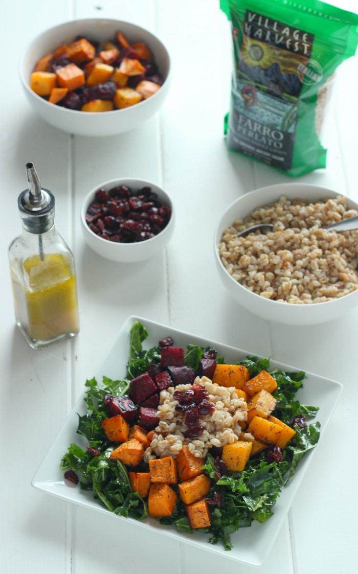 Root Veggie & Farro Salad