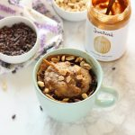 One-Minute HEALTHY Peanut Butter Mug Cake