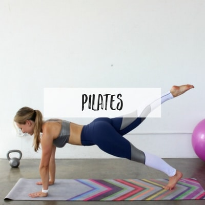 Pilates is great to tone and stretch your total body, but did you know that Pilates is also great for weight loss? These full body Pilates routines include matwork and small props like the ball, resistance band, and ring.