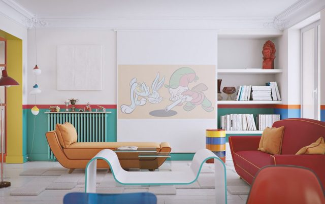 add colour with furniture