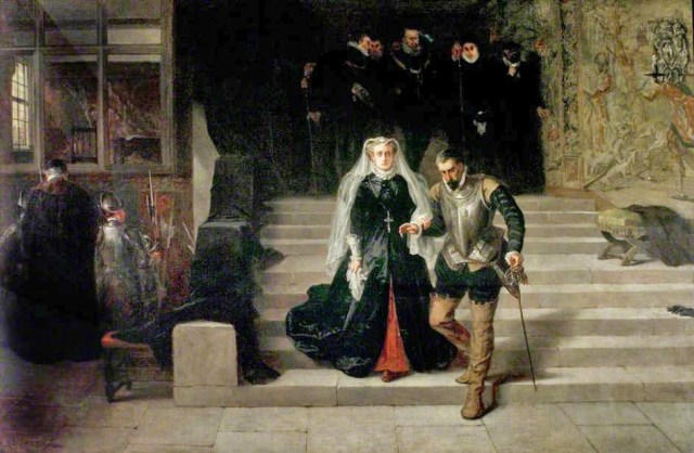 Mary, Queen of Scots, Being Led to her Execution wearing her rosary beads