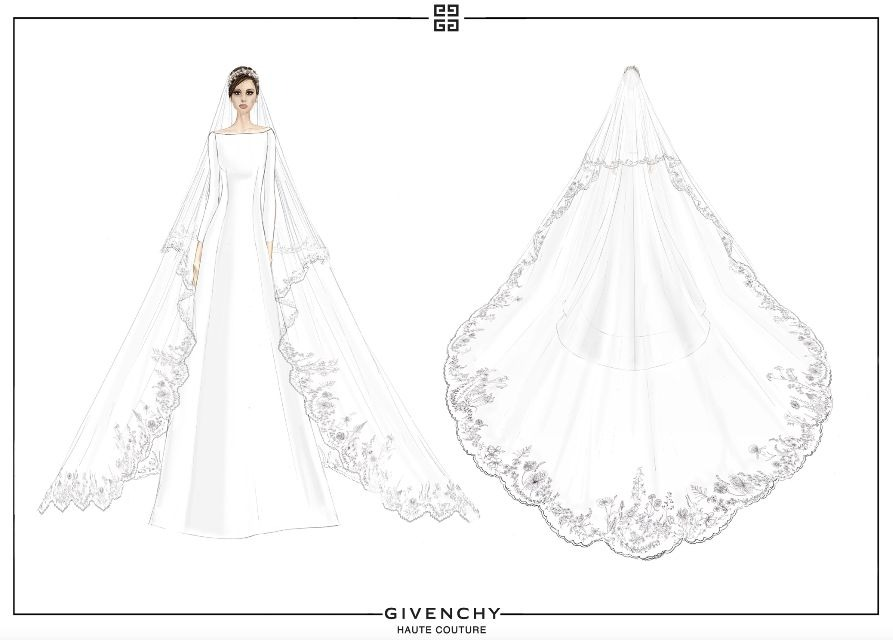Royal wedding dress sketch