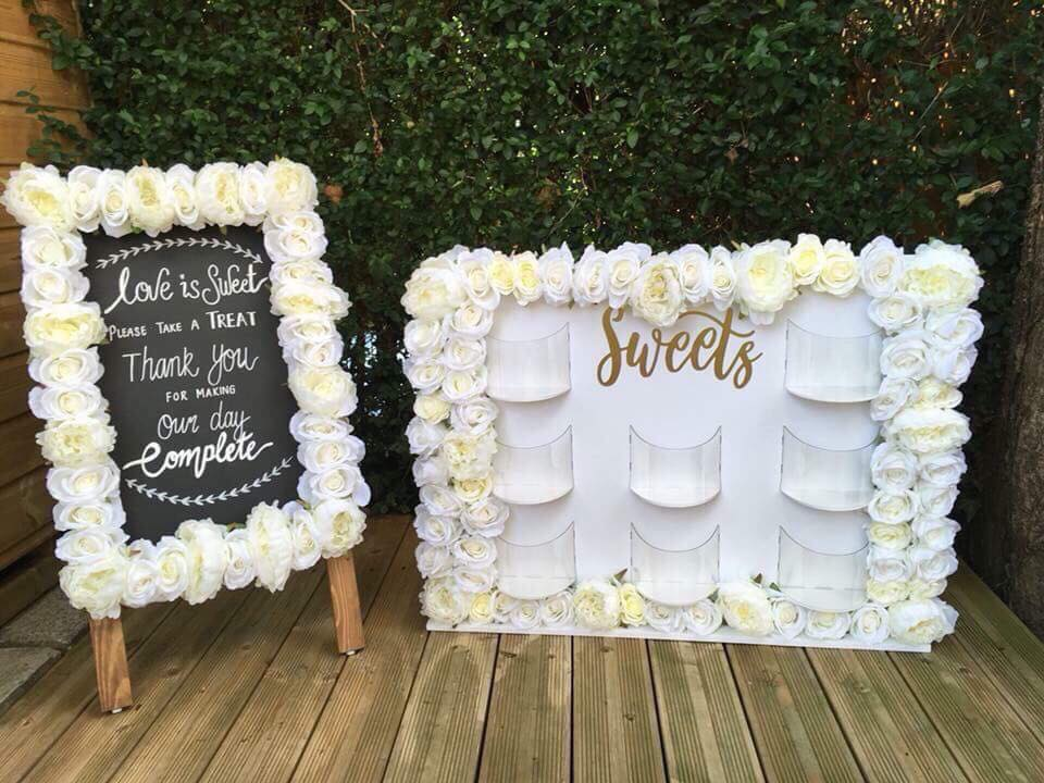 Sweet Wedding Feature wall by Sister Sister Bouquets
