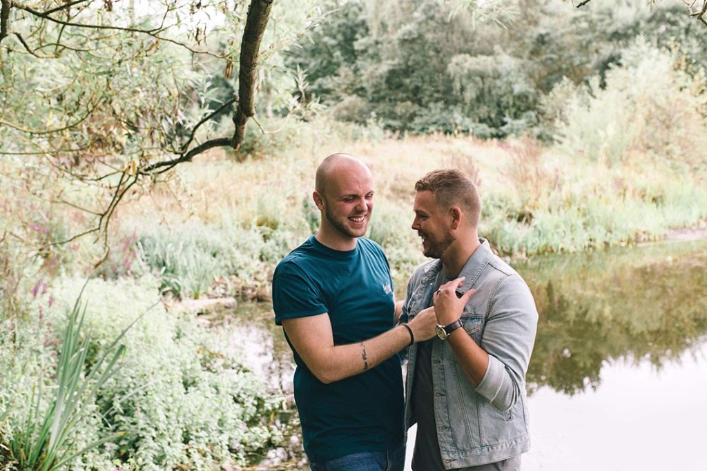 Grooms at pre wedding shoot in Festival gardens