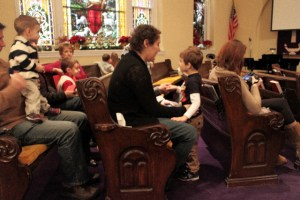 Supporting Max at his preschool Christmas program