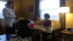 B- Hospice visit