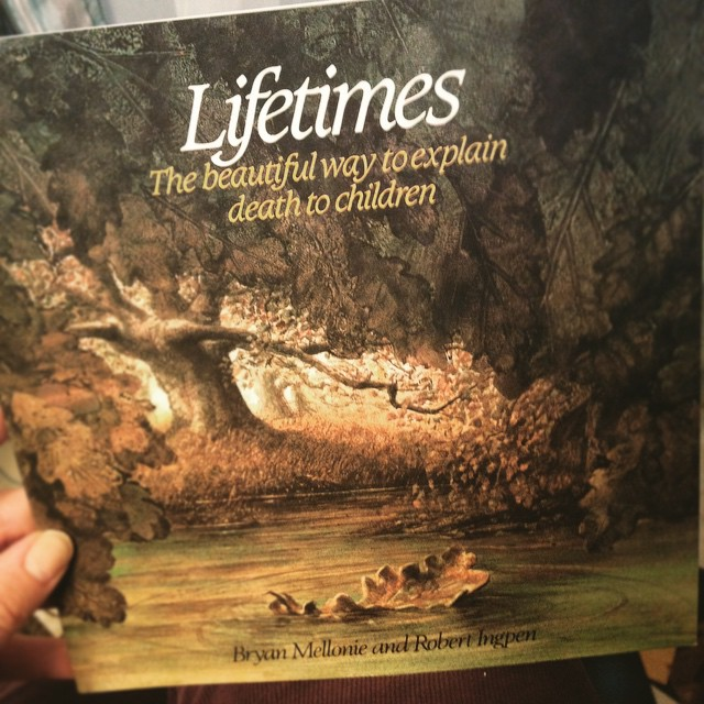 "March 2015: ""Looking for a book to read with your kid(s), maybe to help them understand a sick/dying/dead pet/plant/family member/friend, that talks about death as a natural part of life, for all living things, without any mention of a religion, a deity, an afterlife or pithy sayings? This is it."""