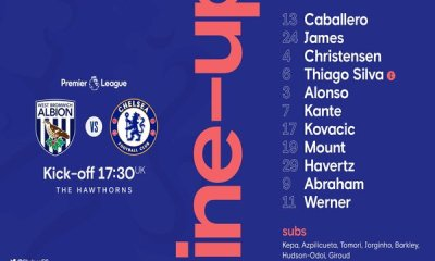 West Brom vs Chelsea Lineup, Team News and Prediction