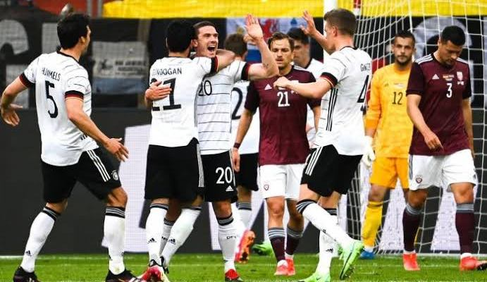 Germany Thrash Latvia 7:1 in Friendly Euro Preparation, Chelsea Players Contributed A goal Each.