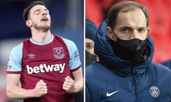 Chelsea Manager, Thomas Tuchel Revives Interest in Declan Rice, As Liverpool Manager might Regret if the Blues Sign Him.