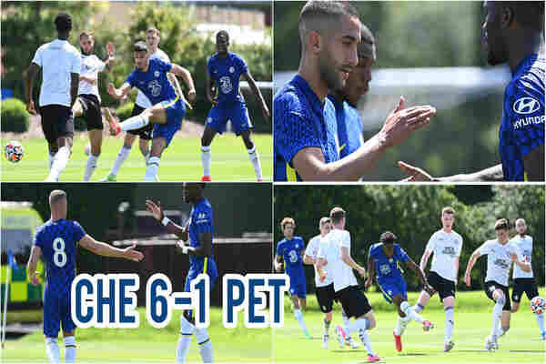 Highlights of Chelsea vs Peterborough: Ziyech Hattrick, Guide the Blues to Win 6:1 In Tuchel's First Pre-Season Match