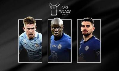 UEFA: Chelsea Stars Ngolo Kante and Jorginho Make the Final list For Men's Player of the Year.