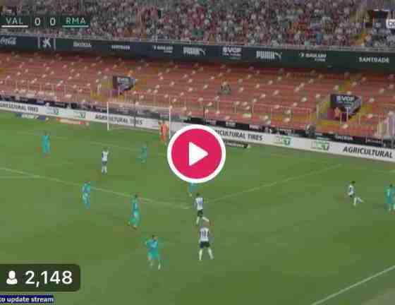 Watch Valencia vs Real Madrid Live Streaming Match #ValenciaRealMadrid #LaLiga