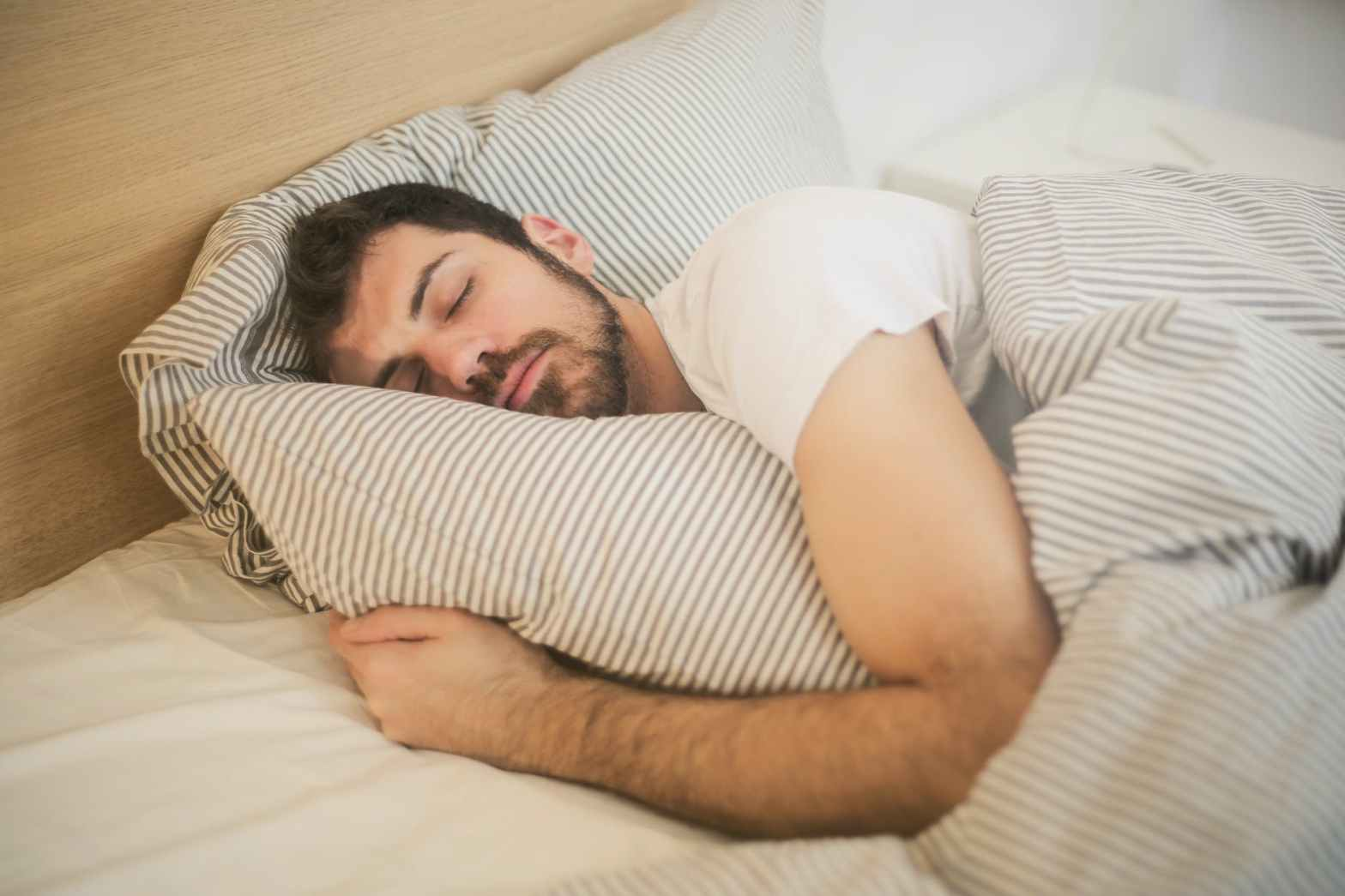 photo of sleeping man