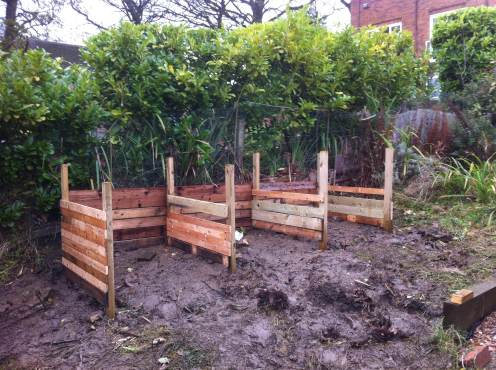 Compost bays needing a bit more timber and fronts
