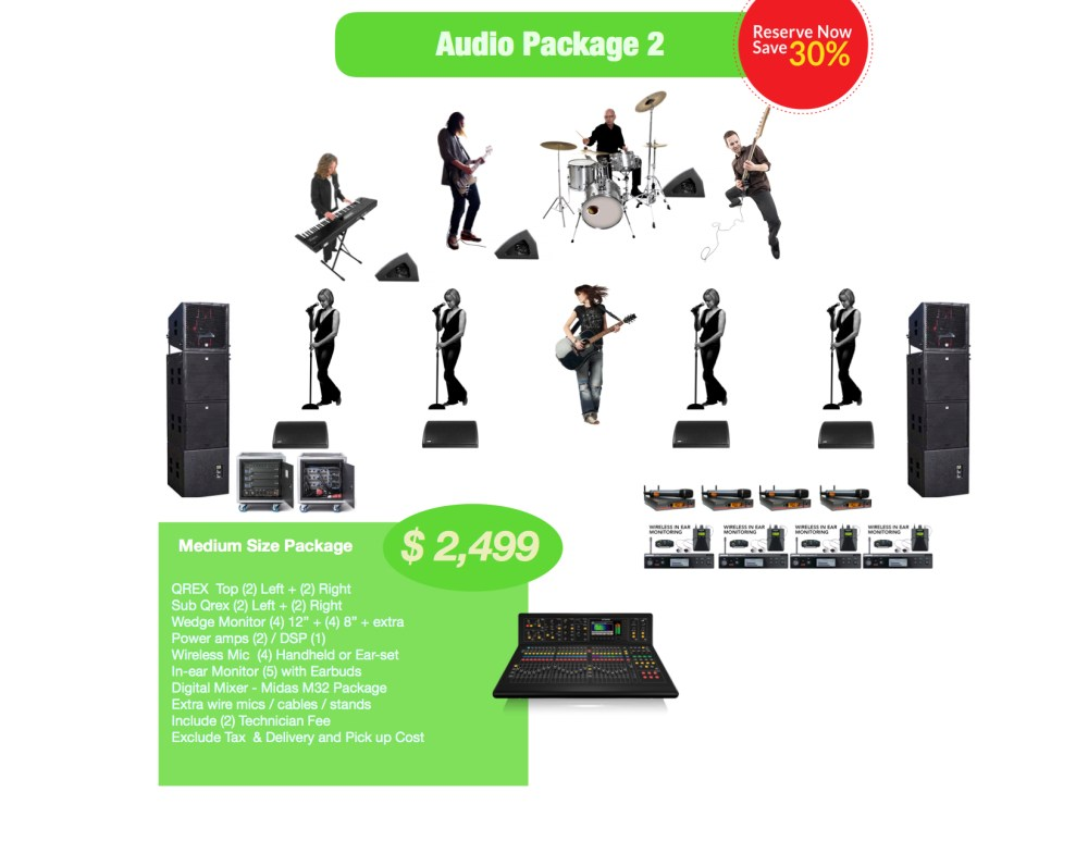 Medium Audio rental package