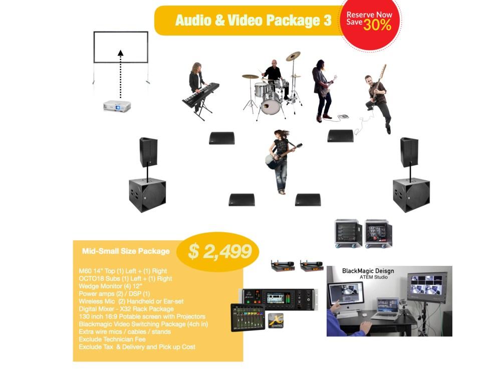 Mid-Small AV rental package