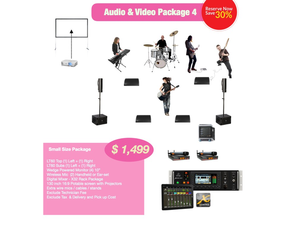 Small AV rental package