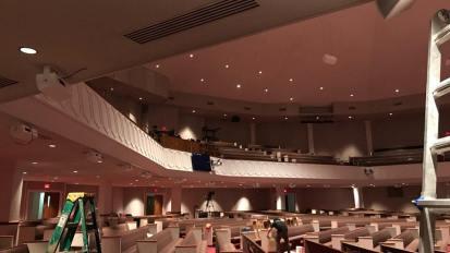 Under Balcony Speaker Install @ Birchman Baptist Church – Fort Worth, TX