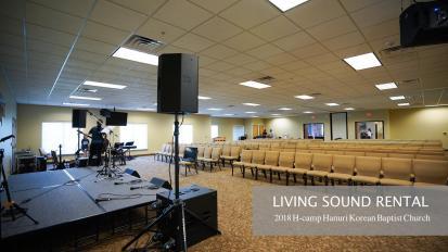Audio System Rental for 2018 H-camp Hannuri Baptist Church @ Denton TX