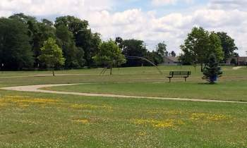 Walking alone in the park, hoping to mend this heart...