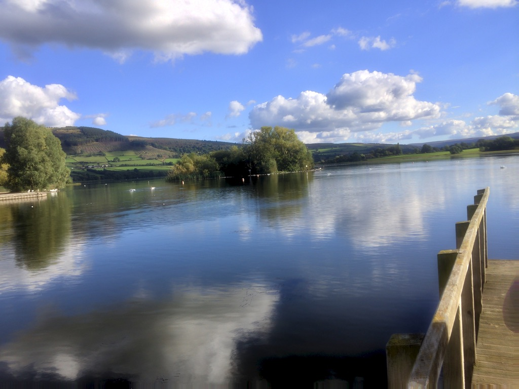 Reflections in Llangorsty Lake