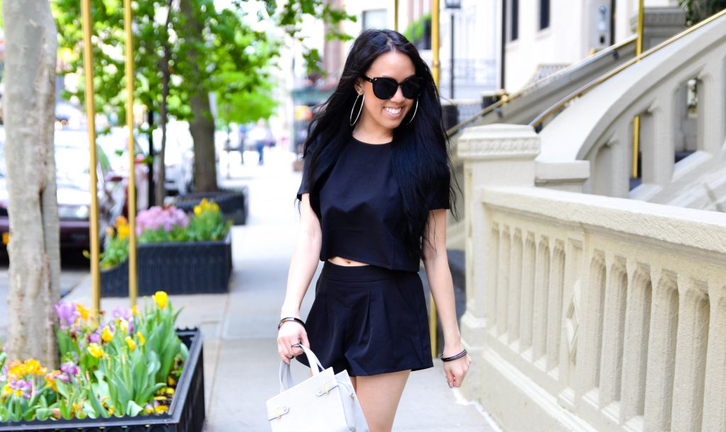 Little Black Two Piece Set with Shein