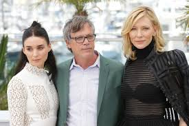 A Todd Haynes sandwich with Rooney Mara on the left, Cate Blanchett on the right