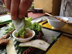 Barbecued pork with Rice paper at Morning Glory, Hoi an, Vietnam