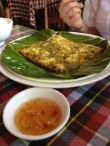 Mackerel on a banana leaf at Mermaid, Hoi an, Vietnam