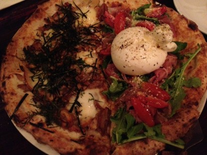 The best pizza ever with homemade burrata cheese at Puzza 4 Piece. Ironically, Neapolitan pizza made by Japanese in Ho Chi Minh, Vietnam.