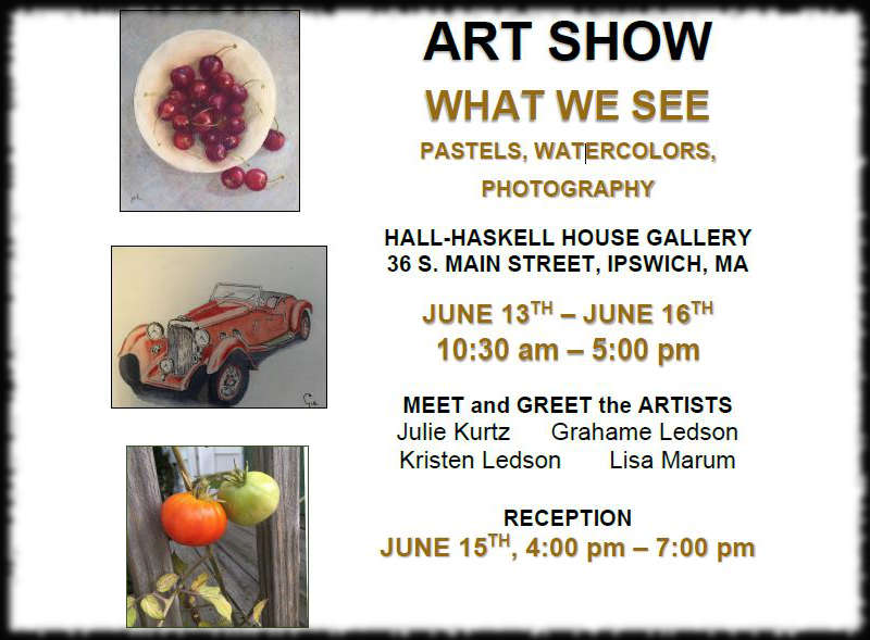 Four artists set to display in Hall-Haskell House June 13 - June 16