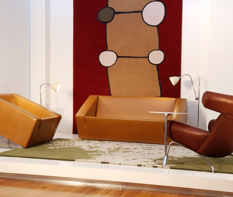 Brown Lounge - OBELISK Upholstered Sofa Collection - Ross Didier - Heidelberg West, VIC, Melbourne - The Local Project