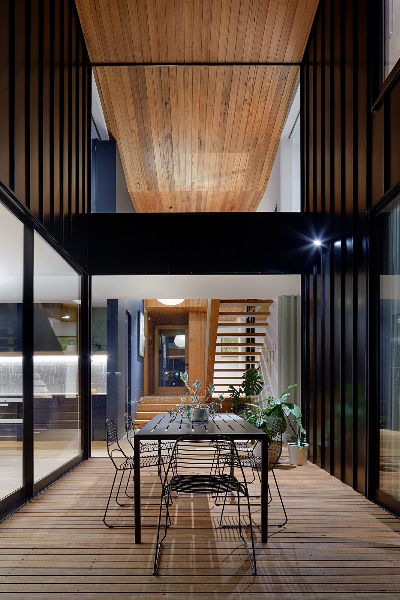 In Order To Create A Home That Functions For Both A Couple And Large Groups, Kart Created A 'connected' Plan