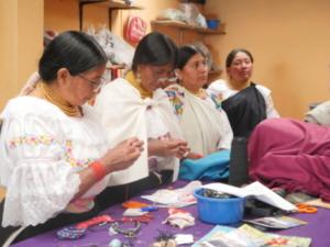 Dans l'atelier de l'association Pacha Calera
