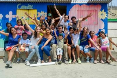 Juan Diego et les enfants du barrio Manchay