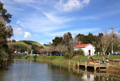 Starting point for a gentle kayaking trip down the Puhoi River