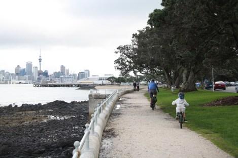 Cycle or walk along KIng Edward Parade towards North Head - take a camera for great views of Auckland