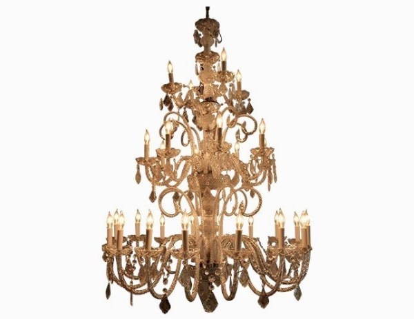 crystal chandelier tiered # 30