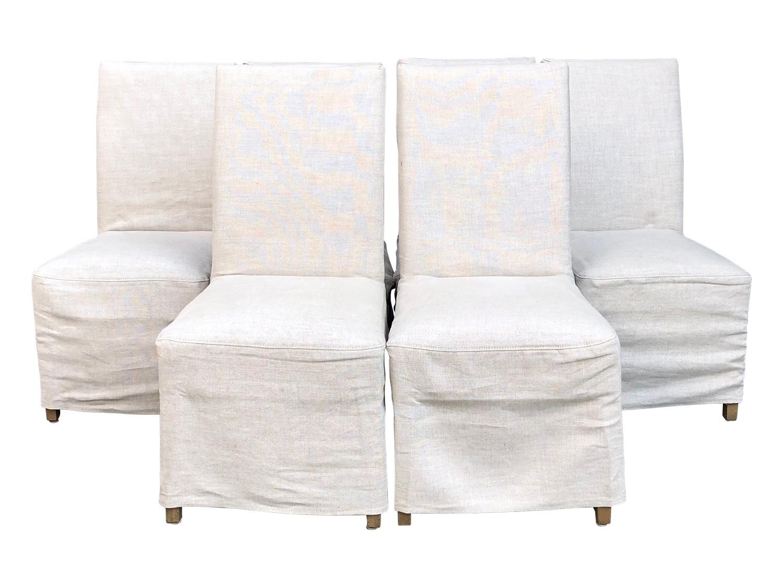 restoration hardware hudson parsons slipcovered chairs set of 6